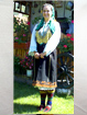 Bulgarian Graovo authentic costume from the village of Kladnica (Beckmenn Litak, shirt, striped socks, slippers, towel)