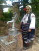 Costume from the village of Gorna Lipnitsa - shareni chorapi, riza, fustan, prestilka,eleche, kolan s pafti, zabradka