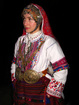 "Bulgarian costume ""lazarski"" from the village of Pirin, Sandanski Municipality."