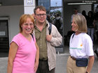 Marjo and Christoffer from Finland and Anna from Australia in the Sofia airport