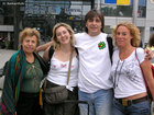 Nadir from Brazil, Claire from France, Boris and Anja from Germany in the Sofia airport