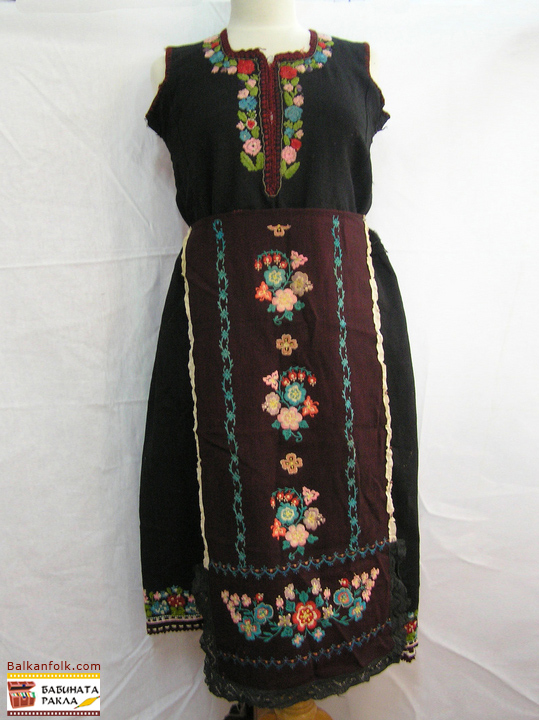 Folk costume from Lyubimets Region - Bulgaria (sukman, prestilka)