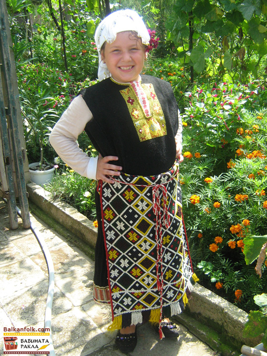 Bulgarian Folk Costume from Sinyo Kamene - Bourgas