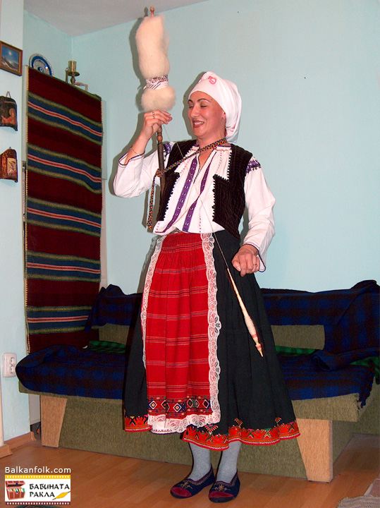 Bulgarian folk costume from Ruse, Bulgaria