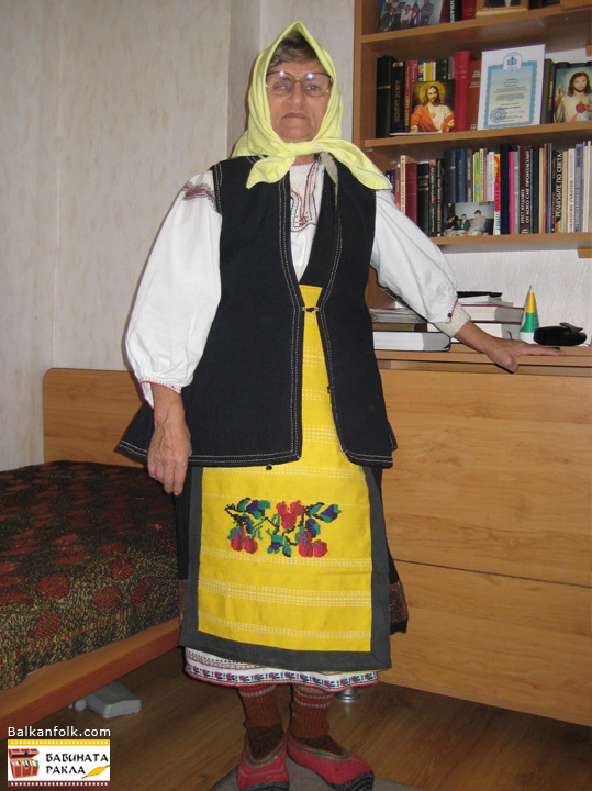 Bulgarian costume from Malchika village, Pleven Region