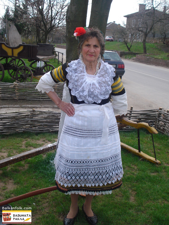 Authentic women's costume from Vakarel, Bulgaria