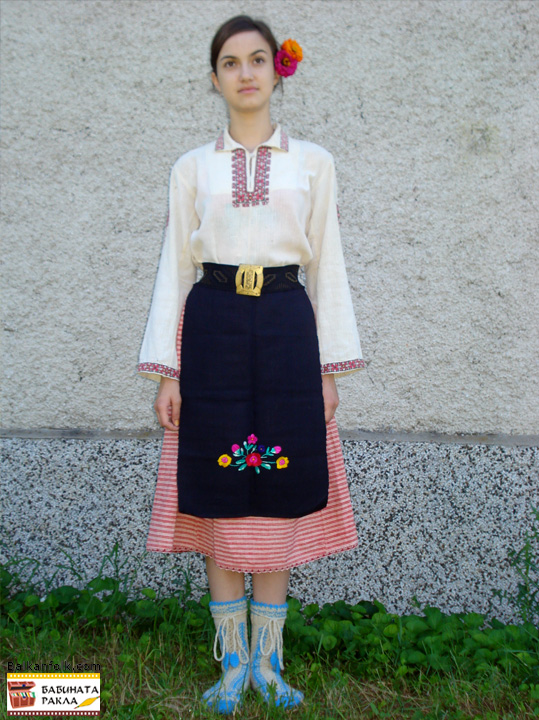 Costume for a girl from the early 20 century Pisarevo village, municipality of Gorna Oryahovitsa - Bulgaria