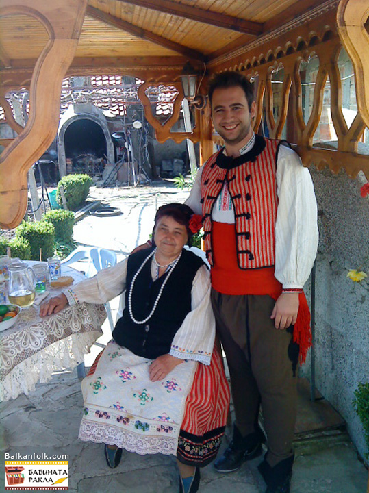 Male and female costumes from Sliven, Bulgaria