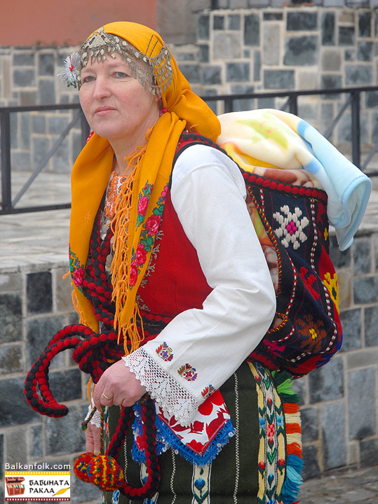 Bulgarian National Costume from village Bania, Region of Razlog