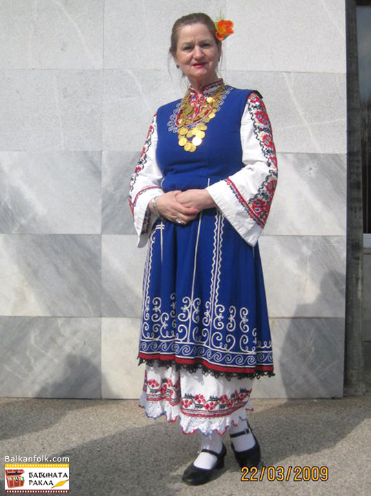 Women's folk costume from Sofia Region, Bulgaria