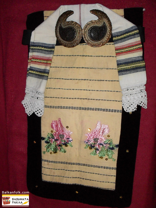 Apron, towel and belt buckles from Ledenik village, municipality of Veliko Tarnovo - Bulgaria
