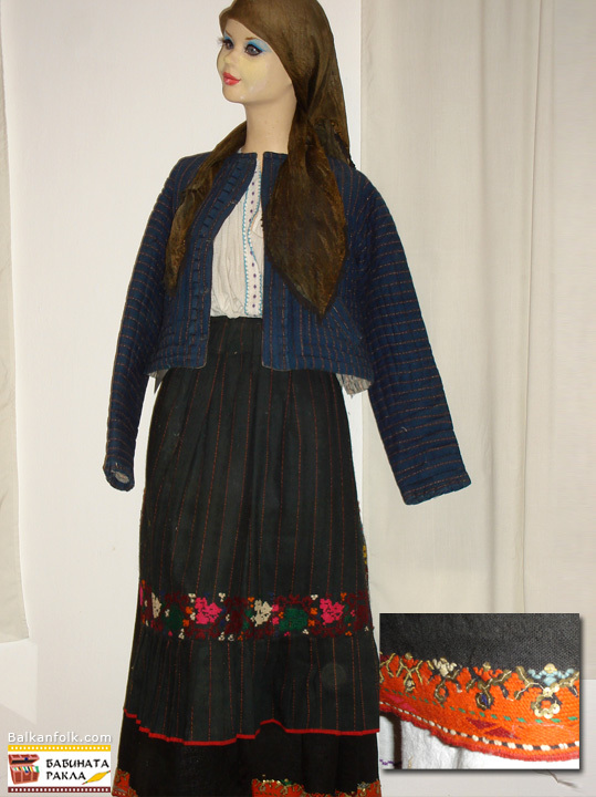 Authentic Bulgarian woman's costume from the village Hupper, Razgrad