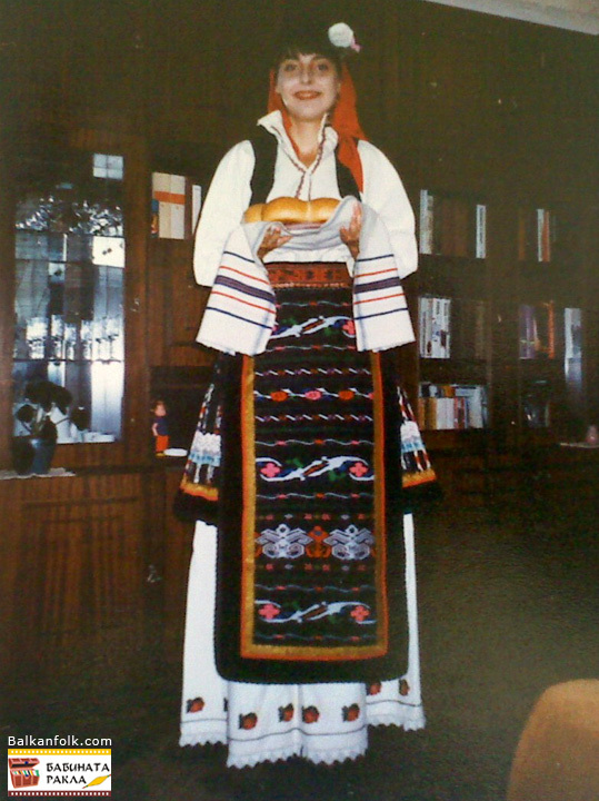Traditional folk costume from Novo selo, Bulgaria