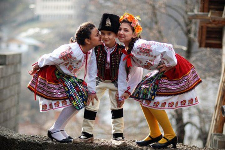 Children's costumes from Bulgaria