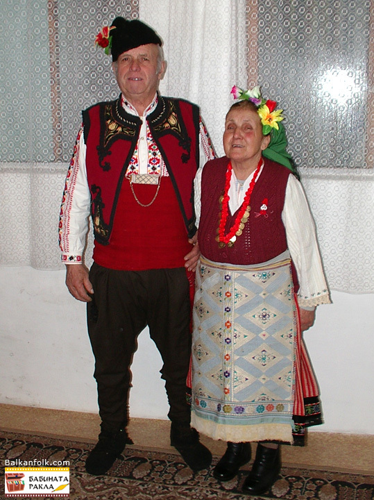 Bulgarian women's and men's traditional costumes