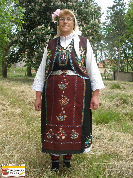 Folk costume from Siva Reka - Bulgaria