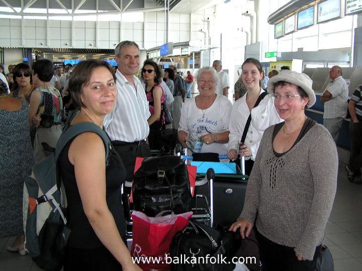 Emil, Dominique, Claire and Eliane at the Sofia Airport