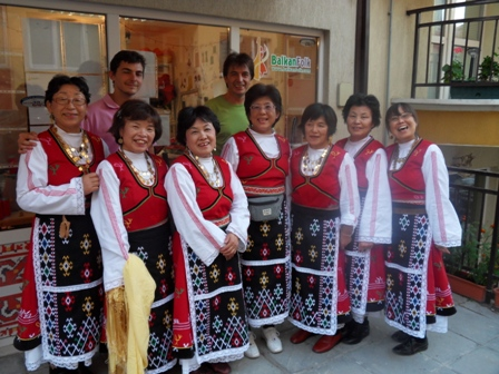 Ensemble Balkan from Japan  visited our atelier.