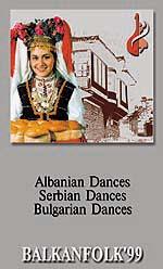 El búlgaro y el serbio danzas folclóricas